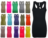 Wholesale Womens Bengal Clothing Long Vest Tank Tops Ribbed Size 6 to 14